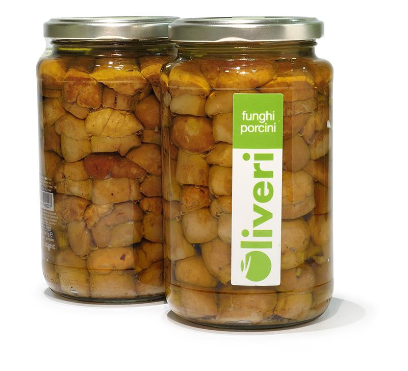 Whole Boletus in olive oil