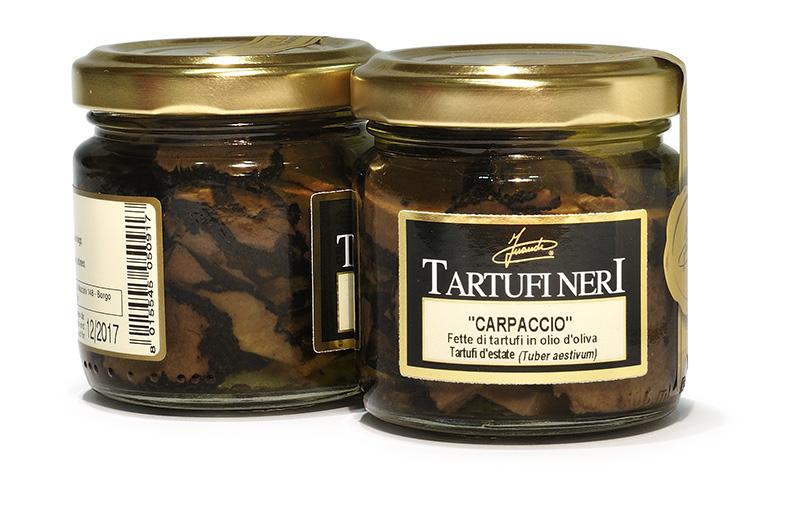 Carpaccio de truffe à l'huile d'olive